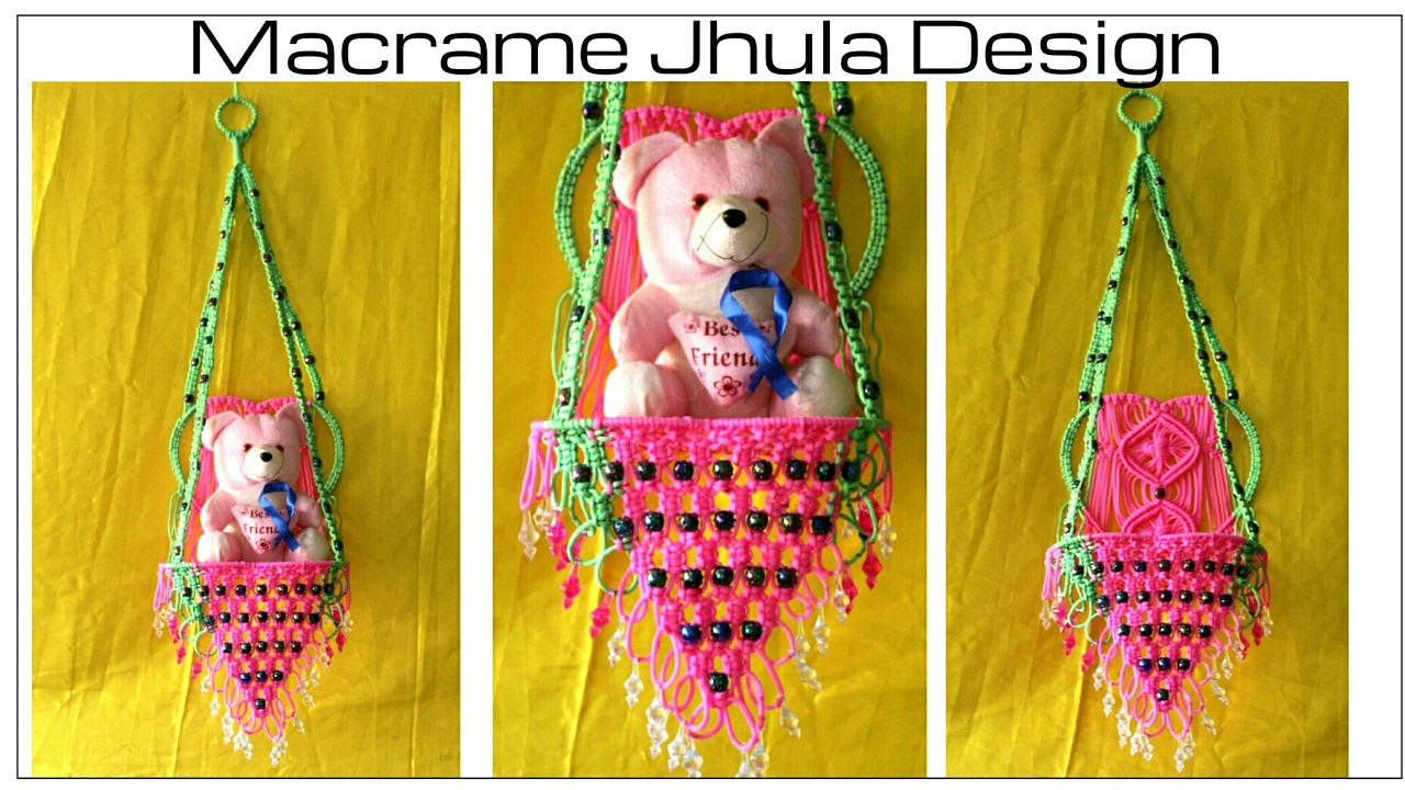 How To Make Handmade Macrame Jhula Hanging Design 3