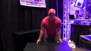 Fast Set DJ Table demo video by John Young of the Disc Jockey News