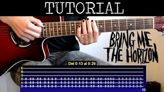 Como tocar Sleepwalking de Bring Me The Horizon (Tutorial guitarra) / How to play