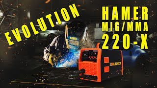 Сварочный полуавтомат HAMER MIG-220X Evolution для профессионального и бытового использования!