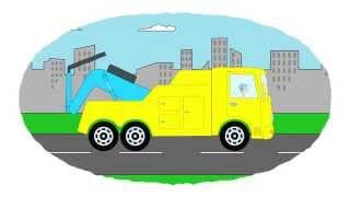 Zeichentrick-Malbuch - Verschiedene Abschleppfahrzeuge