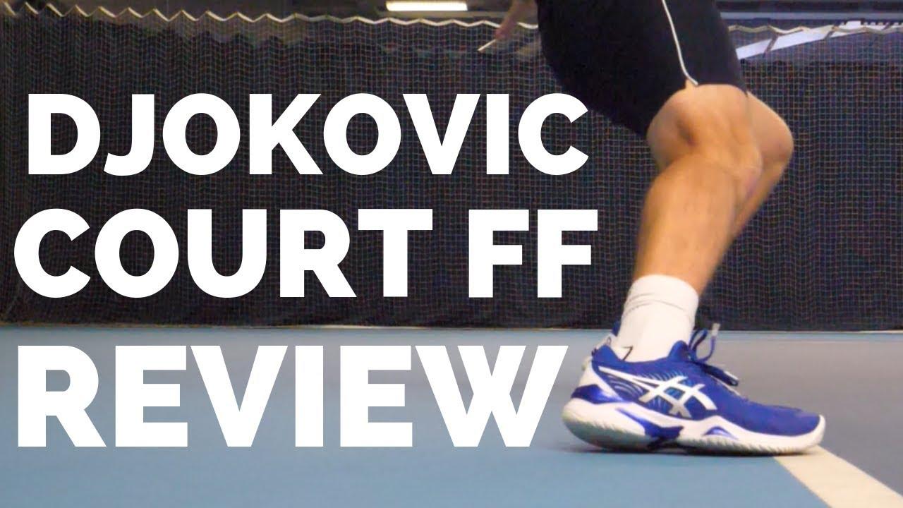 multa captura Anotar  PlayTest: Djokovic 2019 Tennis Shoe - Asics Court FF 2019 Review - YouTube