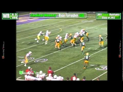 2012 Ryan Farragher - Cardinal Mooney - Sr yr - WR DB 14 Football Highlights