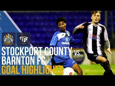 Stockport County Vs Barnton FC - Goal Highlights - 09.01.2018 - Cheshire Senior Cup