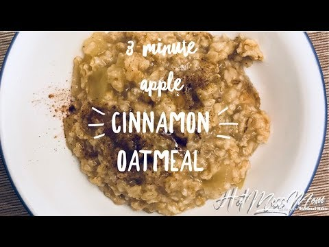 Instant Pot 3 minute Apple Cinnamon Oatmeal