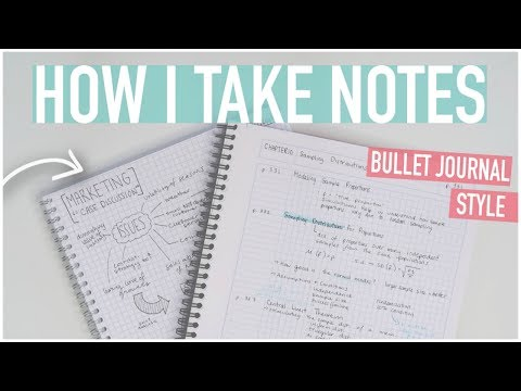 HOW TO TAKE THE BEST NOTES | Bullet Journal Style, Digital + More!