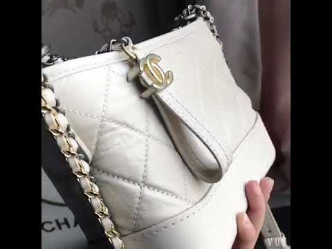 ab61dc11f8a6 Chanel Gabrielle hobo bag Off-white - YouTube