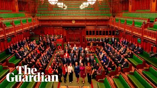 Queen's speech formally reopens parliament after general election  – watch live