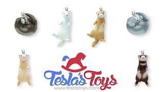 Tesla's Toys Capsule Toy Reveal - Itachis Wonder Land Ferret Swing Mascot Keychain Collection