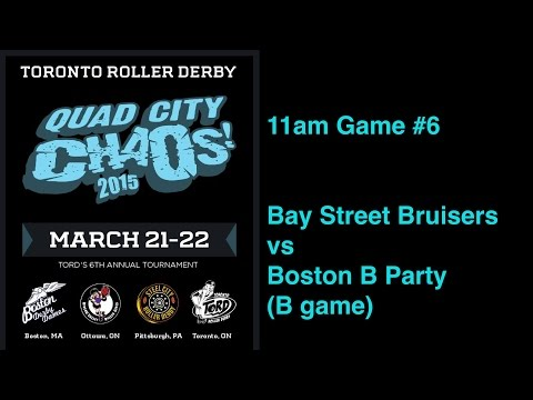 QCC2015 G6  Bay Street Bruisers v Boston B Party (B game) Toronto Roller Derby