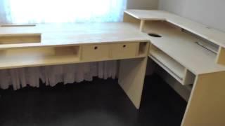 Компьютерный стол своими руками. Как сделать стол самому. Стол из деревянных щитов.(Как сделать стол .Компьютерный стол своими руками.Стол для чертежей своими руками.Большой стол для работы..., 2016-12-27T08:15:18.000Z)