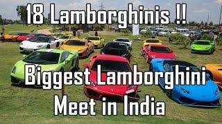 Lamborghini Run | 18 Cars | India | Bangalore