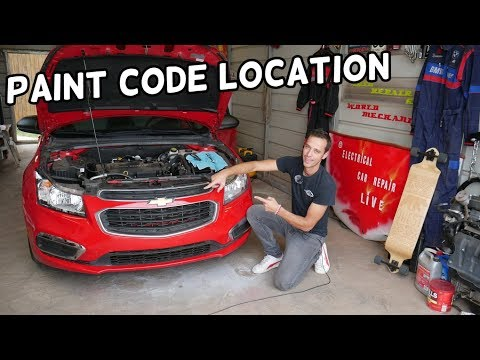 PAINT CODE LOCATION CHEVROLET CRUZE, CHEVY SONIC