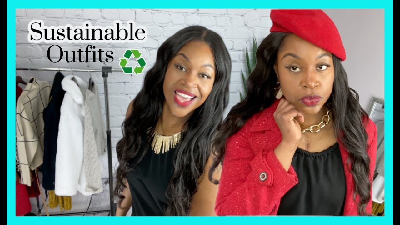 (Dumpster Diving Find) : One Summer Dress: Into 6 Winter Outfits | Look Book | Sustainable Fashion♻️
