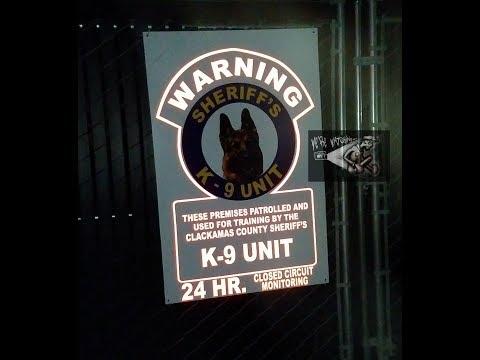 Video #1 Nightime New K-9 Training Facility Found Clackamas County Sheriff's Office