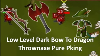 Dark Bow To Dragon ThrownAxe Pure Pking OSRS INSANE COMBO
