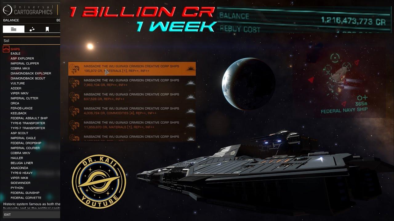 Elite Dangerous: How I made 1 Billion credits in 1 week (legitimately)