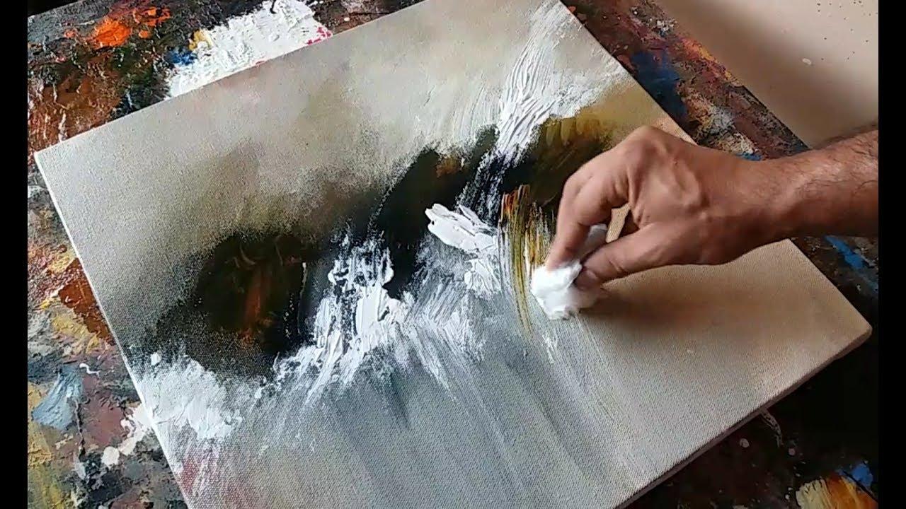 Canvas Painting Plastic Wrap