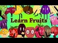 Learn cartoon fruits  & fruits intro animations  ,fruits names ,fruits funny activites