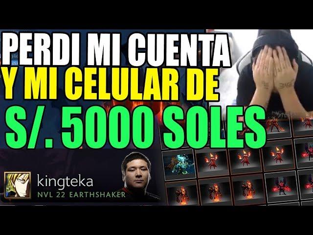 ¡TERRIBLE! KINGTEKA ANUNCIA QUE PERDIO SU CUENTA TI PLAYER Y SU CELULAR VALORIZADO EN 5000 SOLES