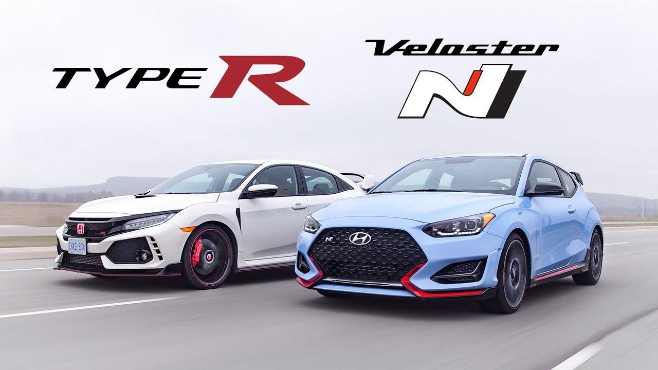 Ford Focus Rs Vs Sti >> 2019 Honda Civic Type R vs Hyundai Veloster N Review ...