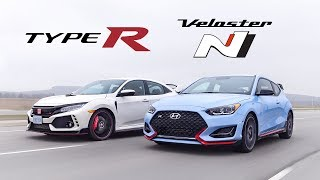 2019 Honda Civic Type R vs Hyundai Veloster N Review - Battle of the Hottest Hatches