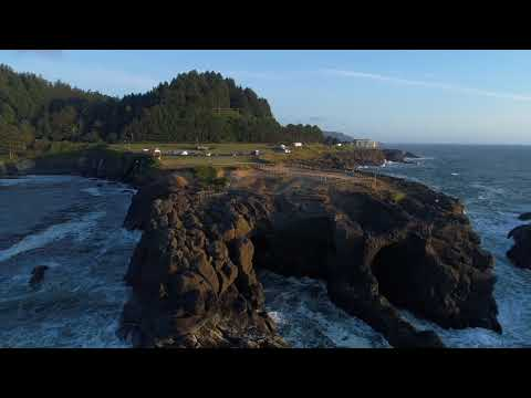 Drone's Eye View Of Boiler Bay, A Prime Eclipse-watching Location Near Depoe Bay