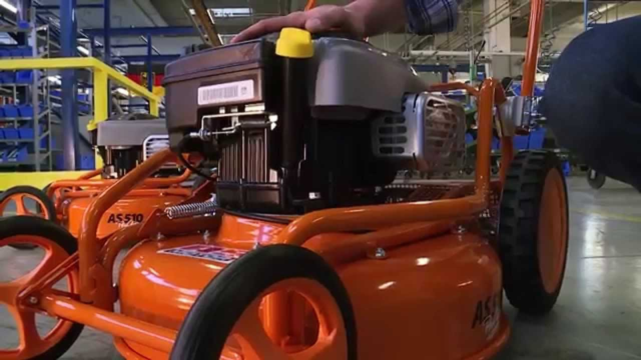as 510 mulchmäher, mulching mower, tondeuse mulching - youtube