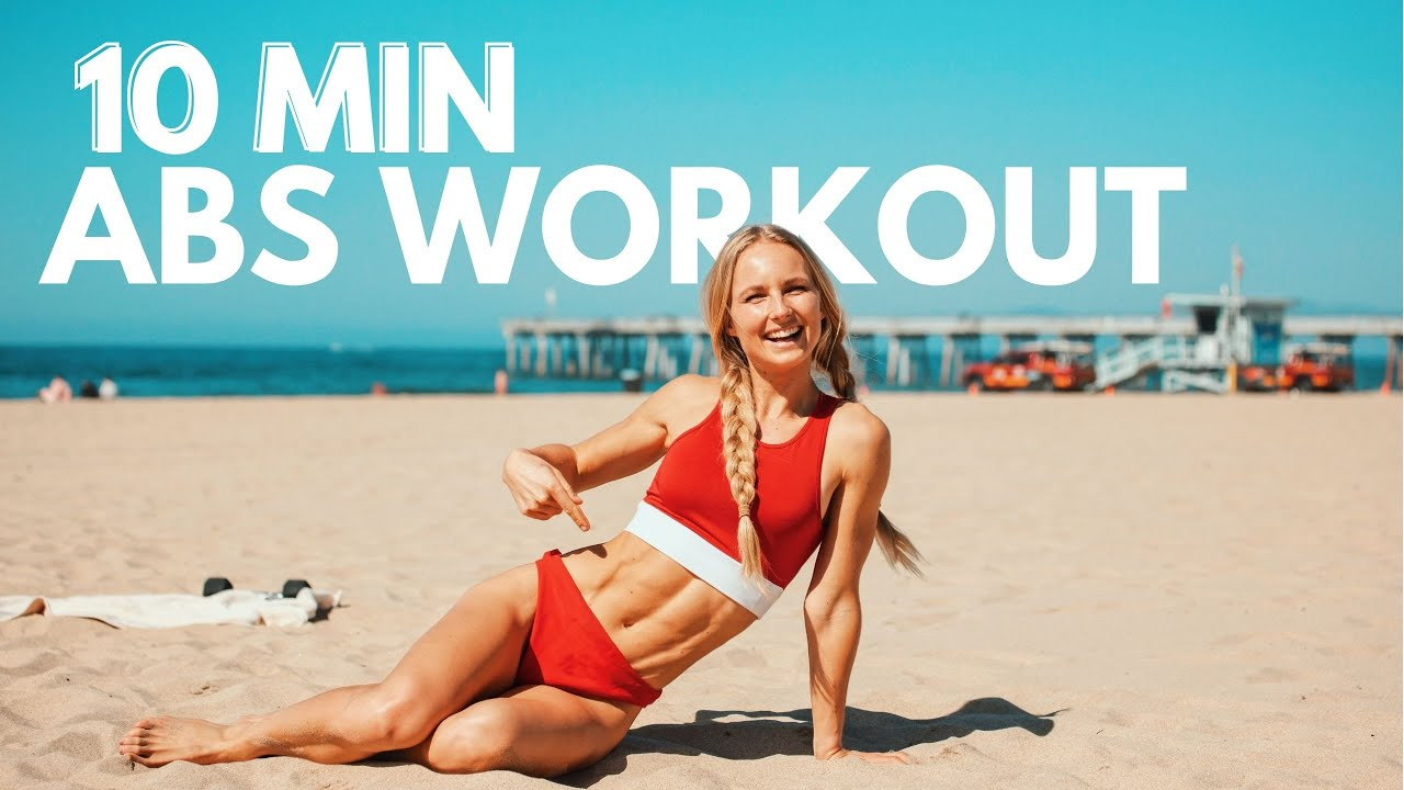 10 minute Abs Workout. With or without added weight for building strong abs. Quick and effective!