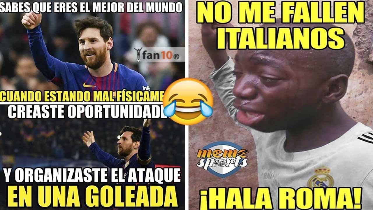 Memes Barcelona Vs Roma 41 Goleada Del Barcelona Con