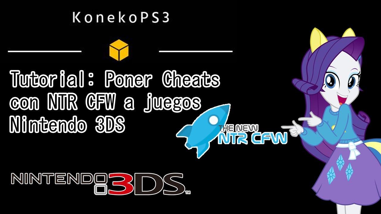 Tutorial: Poner Cheats con NTR CFW a juegos Nintendo 3DS