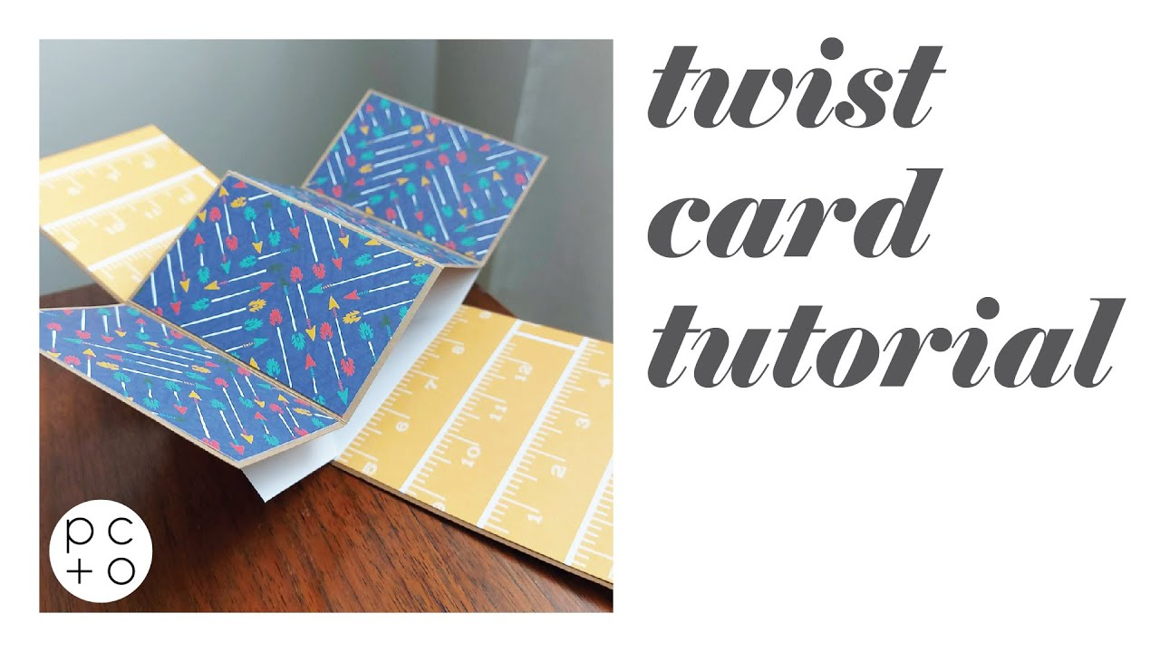 Halloween Pop Up Cards Templates.Tutorial Template Twisting Pop Up Card Paper Chaser To