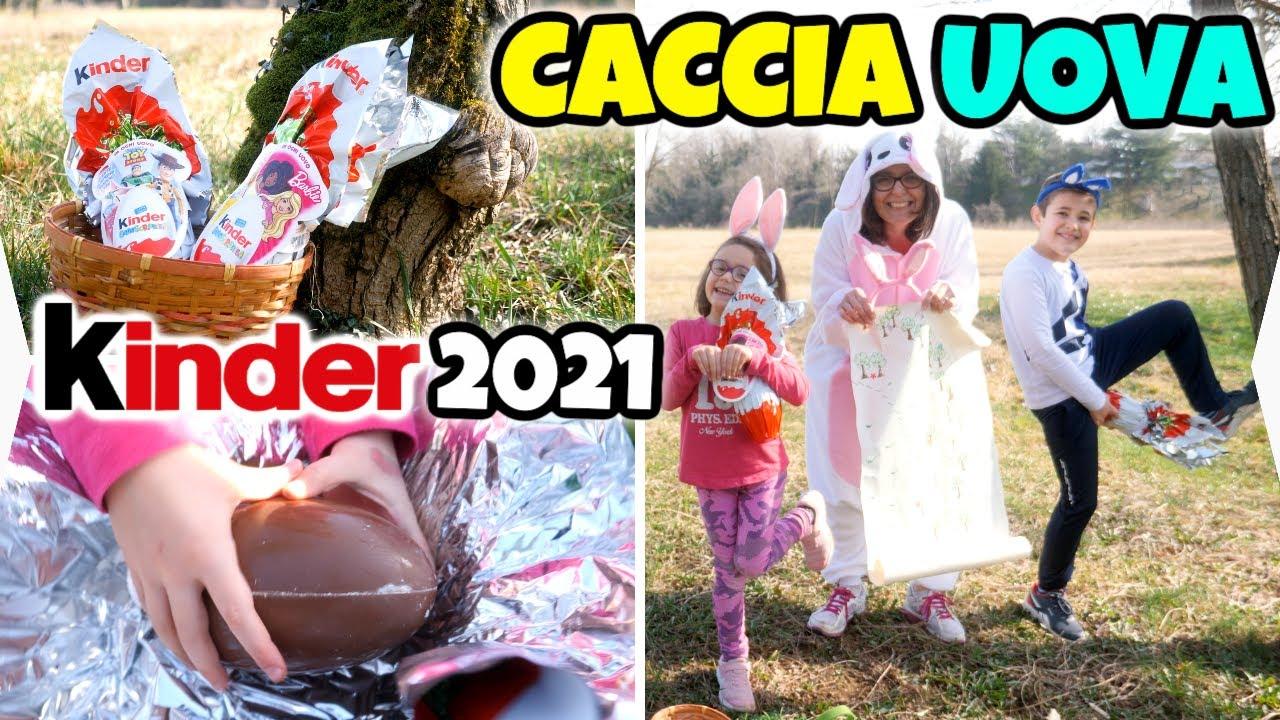 CACCIA alle UOVA KINDER di PASQUA 2021 con il Coniglio Pasquale