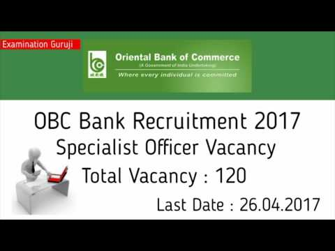 Oriental Bank of Commerce Recruitment for Specialist Officer Vacancy | Sarkari Naukri