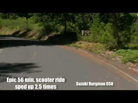 Epic Scooter Ride Sped-up 2.5 Times Suzuki Burgman 650