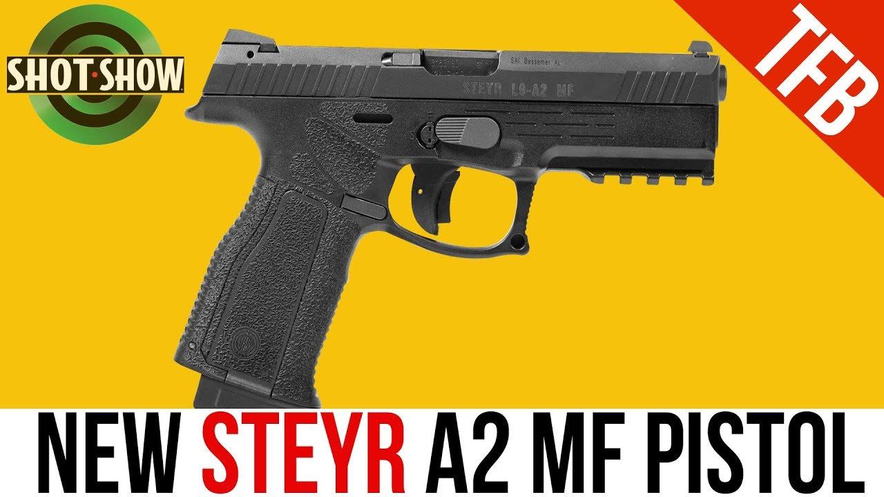 [SHOT Show 2019] NEW Steyr A2 MF (Modular Frame) 9mm Pistol