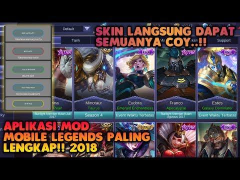 GAWAATT!! Aplikasi MOD Mobile Legends Paling Lengkap | Skin Langsung Dapat Semuanya?!!