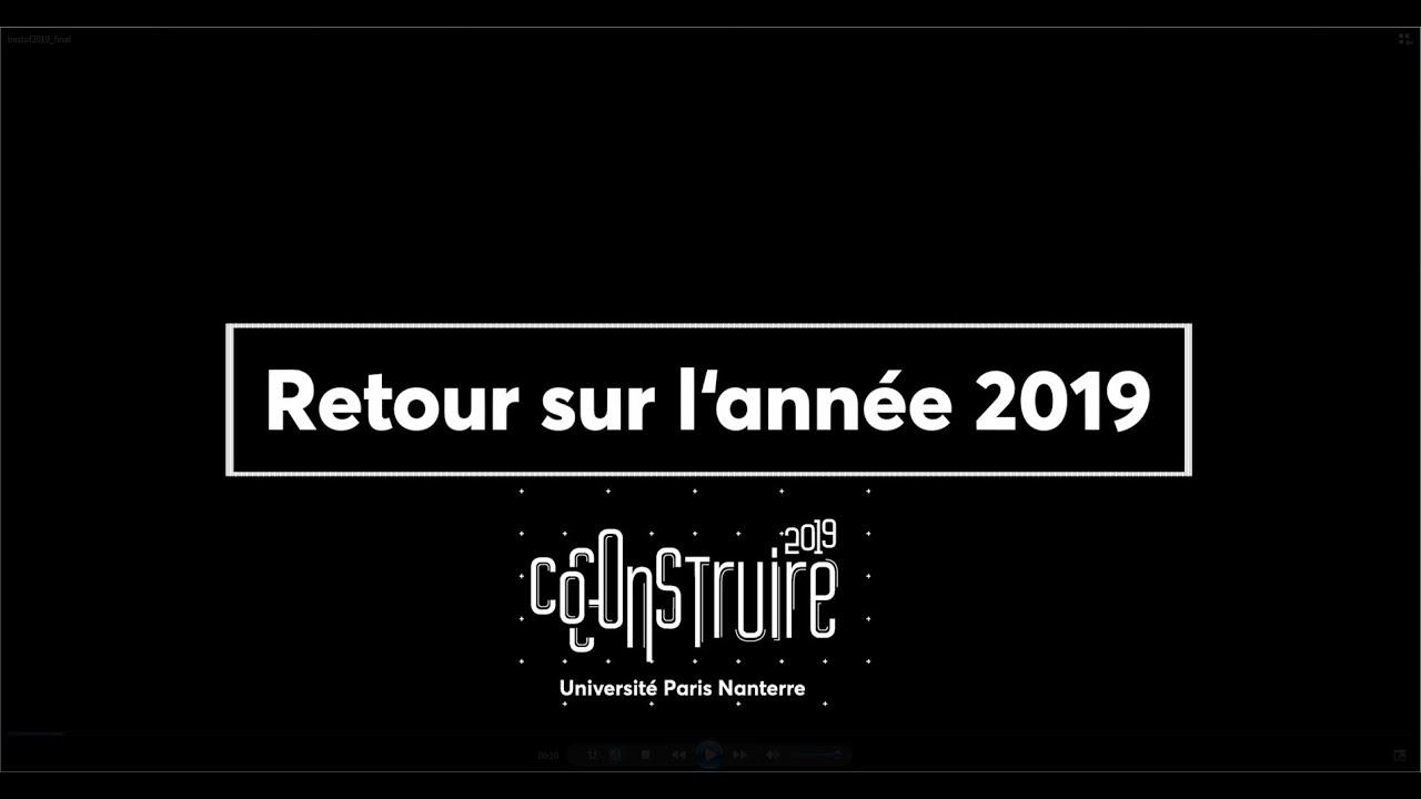 Retour sur l'année 2019 à l'Université Paris Nanterre