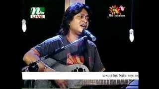 Partho singing Hemanta - Ei Meghla Dine Ekla (Live with Bappa and Haider)
