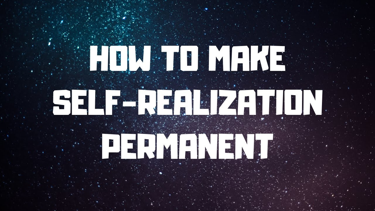 Howto Produce a Realization