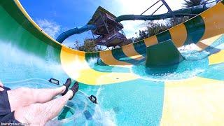 Tassie's Twisters water slides (HyperSmooth POV) Aquatica Orlando