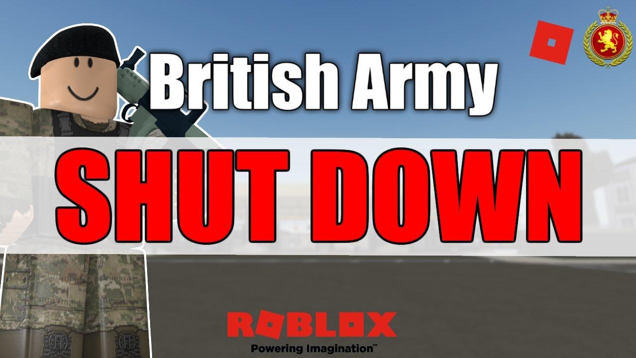 Roblox British Army Shutdown Marcuses British Army Youtube