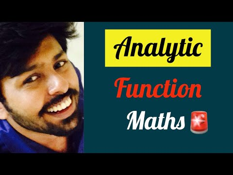 Explain Analytic function in maths : Engineering Lectures