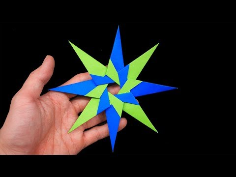 Easy #Origami Paper Ninja star 8 Points - How to Make Ninja star Step by Step