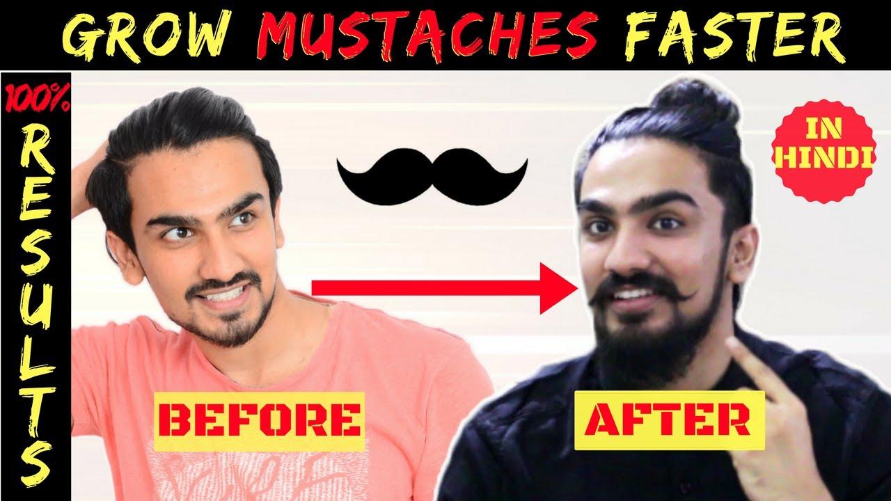 Grow Mustache Naturally Fast In Hindi 2017 Handlebar Mustache