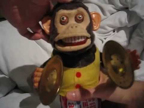 Scary Vintage Toy Japanese Clapping Monkey