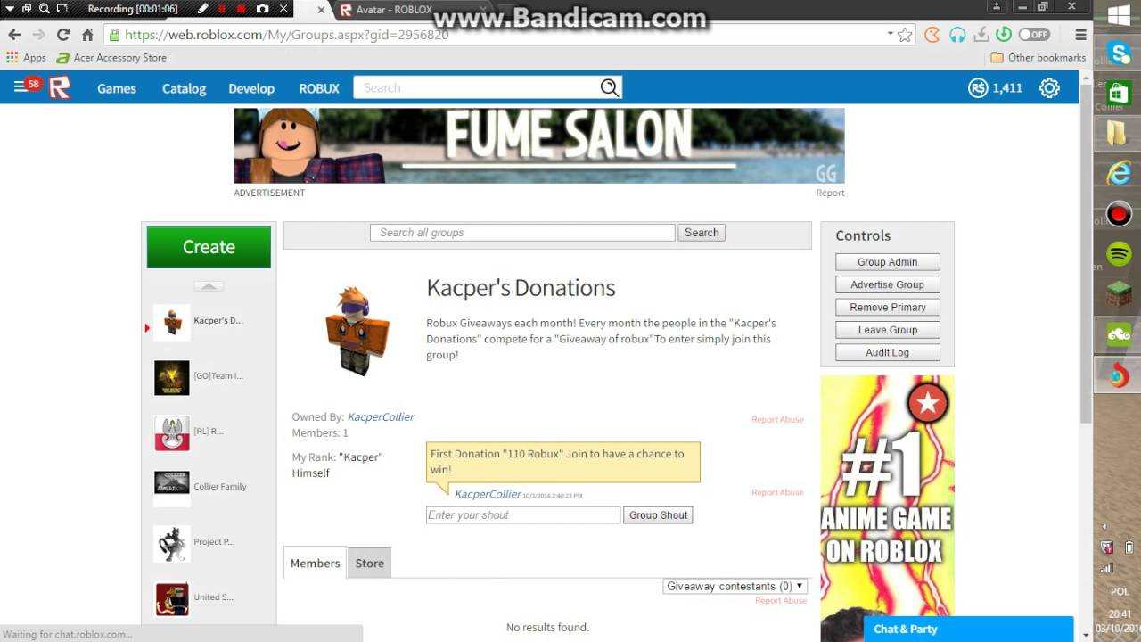 Roblox Robux Giveaway Group!