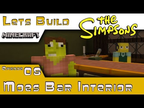 Minecraft :: Springfield Lets Build :: Moes Bar / Tavern P2 :: E8