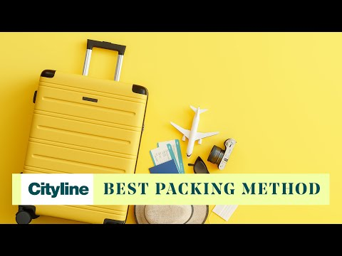 This is officially the most effective method for packing a suitcase
