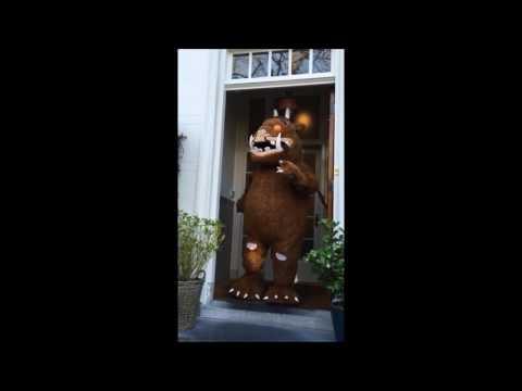 De Gruffalo op bezoek bij Uitgeverij Lemniscaat